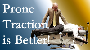 Oxford spinal traction applied lying face down – prone – is best according to the latest research. Visit Satterwhite Chiropractic.