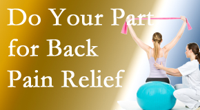 Satterwhite Chiropractic calls on back pain sufferers to participate in their own back pain relief recovery.