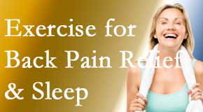 Satterwhite Chiropractic shares recent research about the benefit of exercise for back pain relief and sleep.