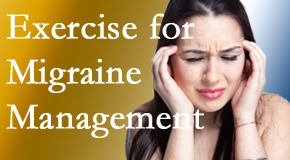 Satterwhite Chiropractic incorporates exercise into the chiropractic treatment plan for migraine relief.