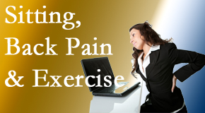 Satterwhite Chiropractic urges less sitting and more exercising to combat back pain and other pain issues.