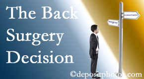 Oxford back surgery for a disc herniation is an option to be carefully studied before a decision is made to proceed.