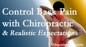 Satterwhite Chiropractic helps patients establish realistic goals and find some control of their back pain and neck pain so it doesn't necessarily control them.