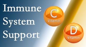 Satterwhite Chiropractic presents details about the benefits of vitamins C and D for the immune system to fight infection.