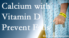 Calcium and vitamin D supplementation may be suggested to Oxford chiropractic patients who are at risk of falling.
