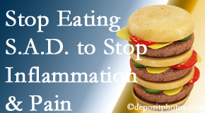 Oxford chiropractic patients do well to avoid the S.A.D. diet to reduce inflammation and pain.