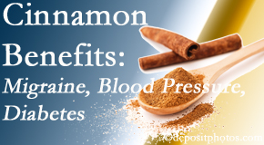 Satterwhite Chiropractic presents research on the benefits of cinnamon for migraine, diabetes and blood pressure.