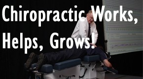 image of doctor performing chiropractic techniques