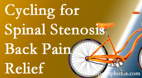 Satterwhite Chiropractic encourages exercise like cycling for back pain relief from lumbar spine stenosis.