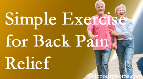 Satterwhite Chiropractic suggests simple exercise as part of the Oxford chiropractic back pain relief plan.