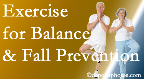 Oxford chiropractic care of balance for fall prevention involves stabilizing and proprioceptive exercise.