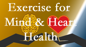 A healthy heart helps maintain a healthy mind, so Satterwhite Chiropractic encourages exercise.