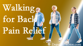 Satterwhite Chiropractic often recommends walking for Oxford back pain sufferers.