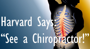 Oxford chiropractic for back pain relief urged by Harvard
