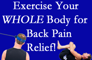 Oxford chiropractic care includes exercise to help enhance back pain relief at Satterwhite Chiropractic.