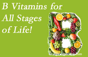 Satterwhite Chiropractic urges a check of your B vitamin status for overall health throughout life.
