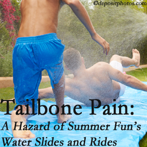 Satterwhite Chiropractic uses chiropractic manipulation to ease tailbone pain after a Oxford water ride or water slide injury to the coccyx.