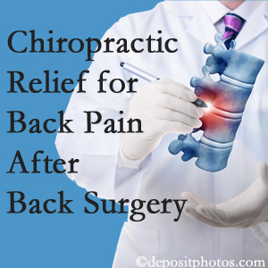 Satterwhite Chiropractic offers back pain relief to patients who have already undergone back surgery and still have pain.