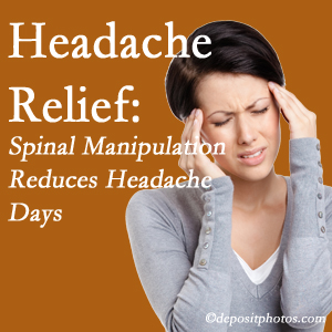 Oxford chiropractic care at Satterwhite Chiropractic may reduce headache days each month.